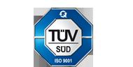 Zertifizierungslogo TÜV SÃÜD - ISO 9001